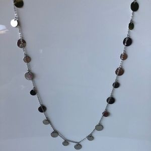 Long silver dangles necklace